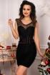 Rochie eleganta neagra scurta cu spatele gol