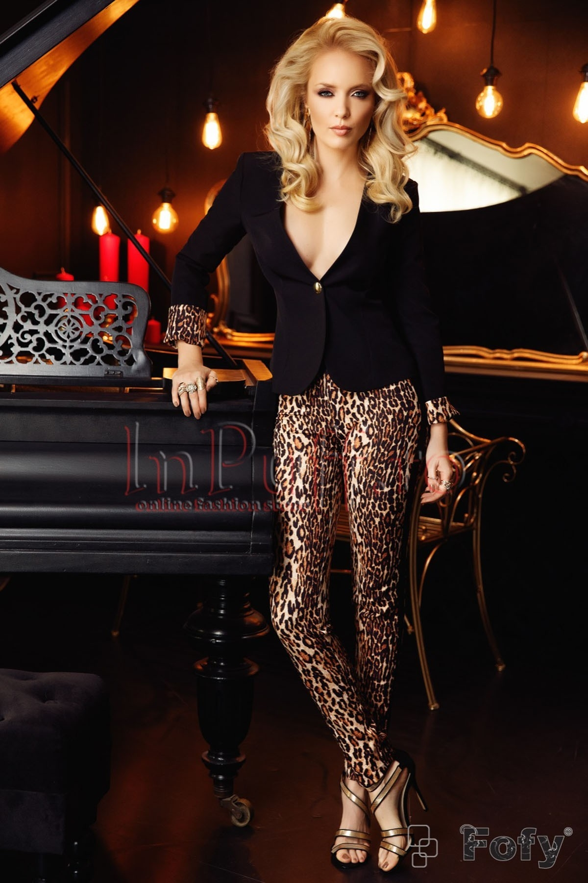 Pantalon animal print dama