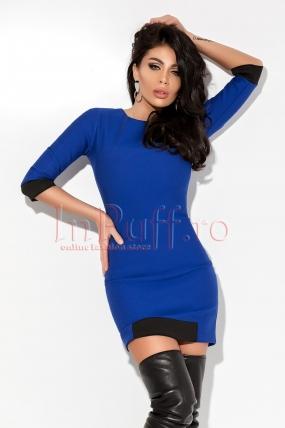 Rochie scurta Atmosphere casual albastra