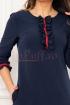 Rochie MBG bleumarin cu insertii rosii