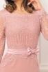 Rochie MBG roz cu broderie si paiete