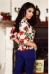 Bluza Atmosphere imprimeu floral accesorizata cu ocheti
