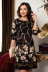 Rochie midi bleumarin cu imprimeu floral