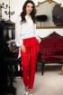 Pantaloni rosii Pretty eleganti conici