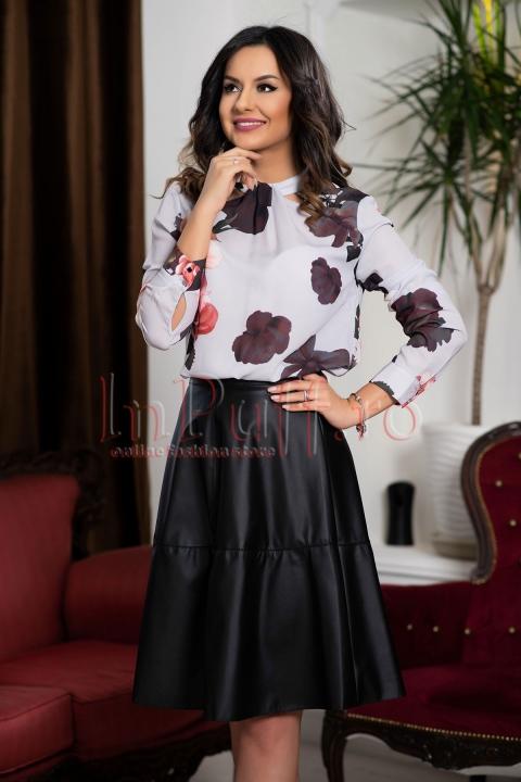 Bluza lejera din voal cu imprimeu floral