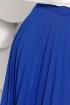 Fusta eleganta plisata albastra si curea in talie Fofy