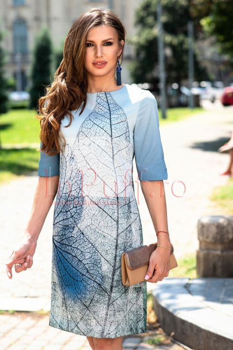 Rochie Hermosa casual dreapta cu imprimeu