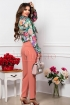 Pantalon dama elegant conic corai cu buzunare laterale