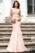 Rochie de lux rose cu broderie florala aplicata Atmosphere