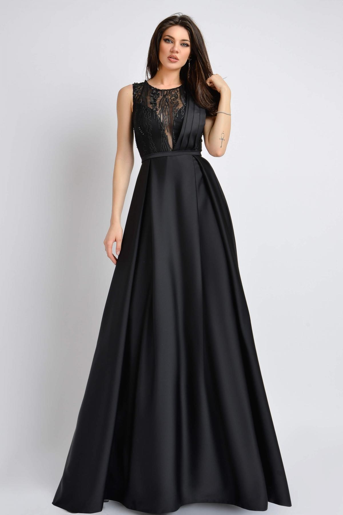 Rochie de lux din tafta neagra Atmosphere