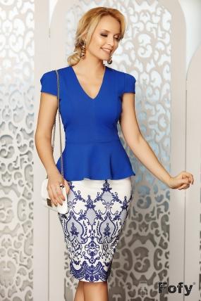 Compleu dama albastru Fofy elegant