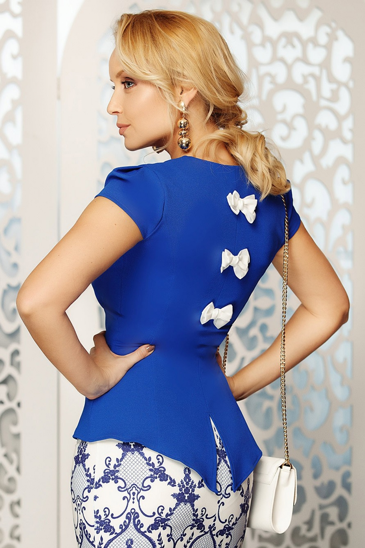 Bluza albastra Fofy eleganta