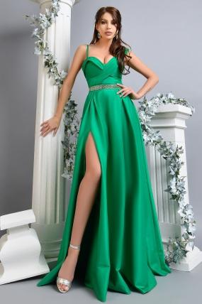 Rochie de seara lunga verde Atmosphere din tafta