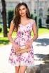 Rochie eleganta  lila Atmosphere cu imprimeu floral