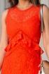 Rochie eleganta orange din dantela
