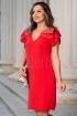 Rochie de seara eleganta Moze rosie din stofa