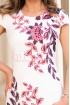 Rochie de zi alba cu imprimeu floral rose