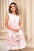 Rochie de seara roz pal cu decupaje si broderie