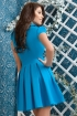 Rochie eleganta scurta Atmosphere cu pliuri si guler