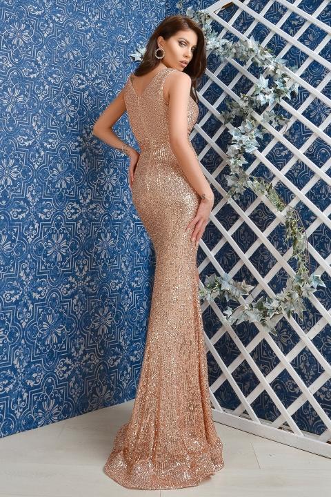 Rochie de lux Atmosphere din paiete aurii