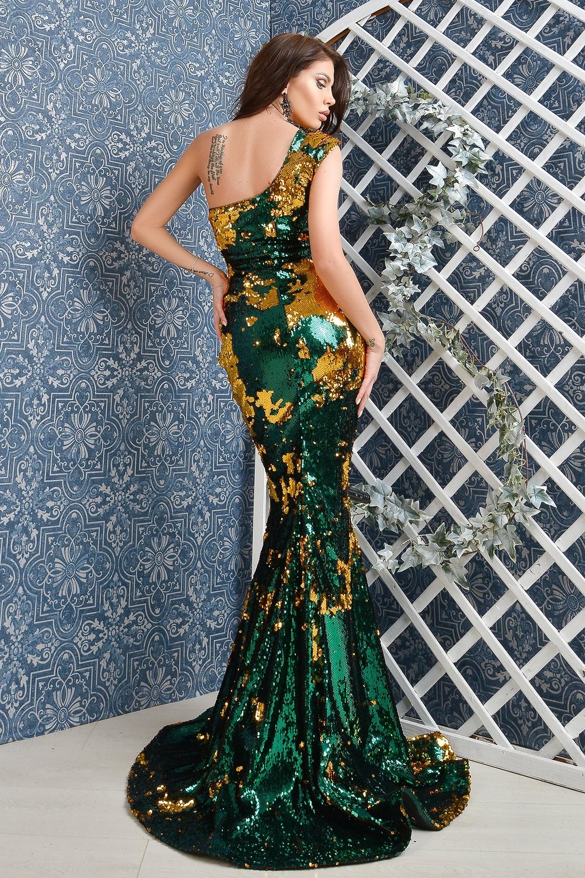 Rochie de lux Atmosphere din paiete cameleon