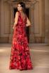 Rochie lunga de vara cu imprimeu floral