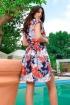 Rochie de vara atmosphere cu imprimeu multicolor si curea in talie