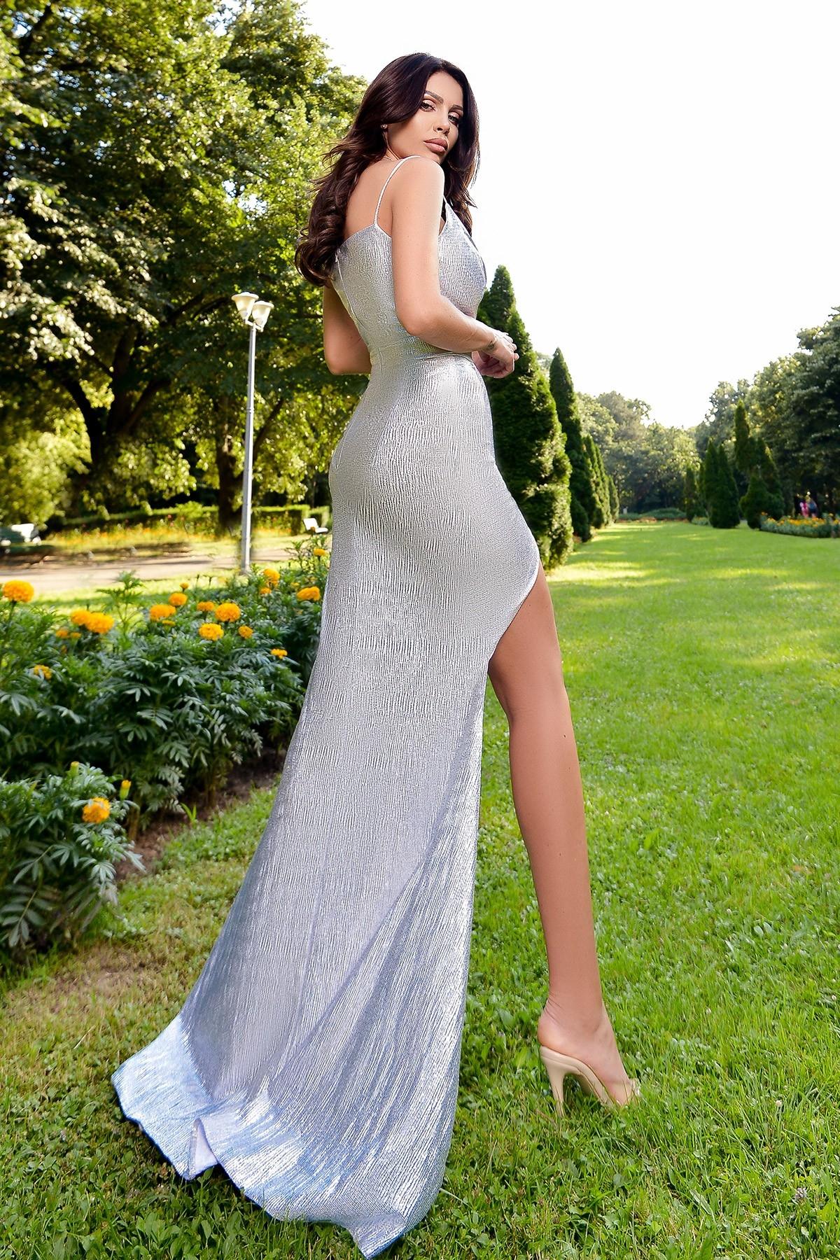 Rochie eleganta argintie Atmosphere