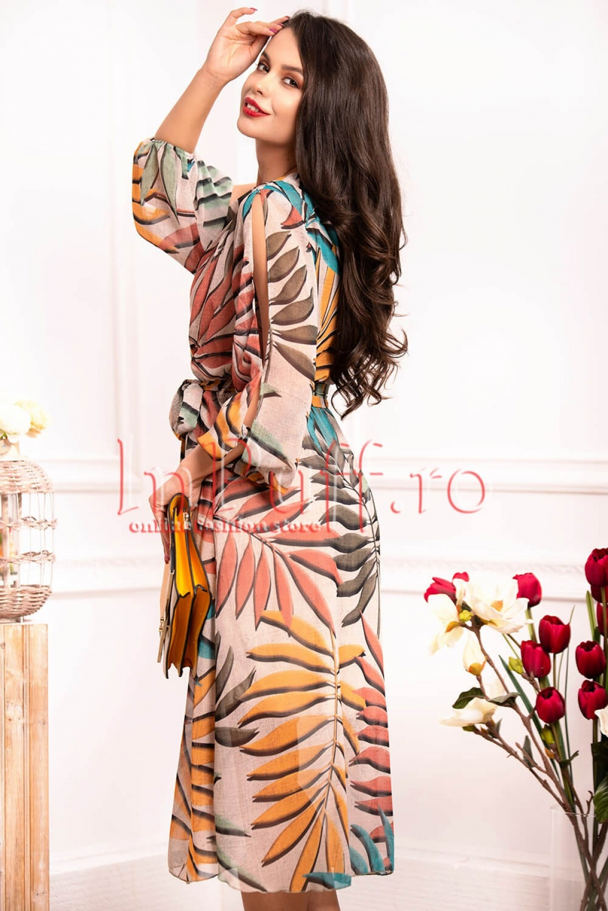 Rochie de vara din voal multicolora