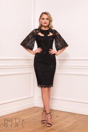 Rochie eleganta neagra din dantela