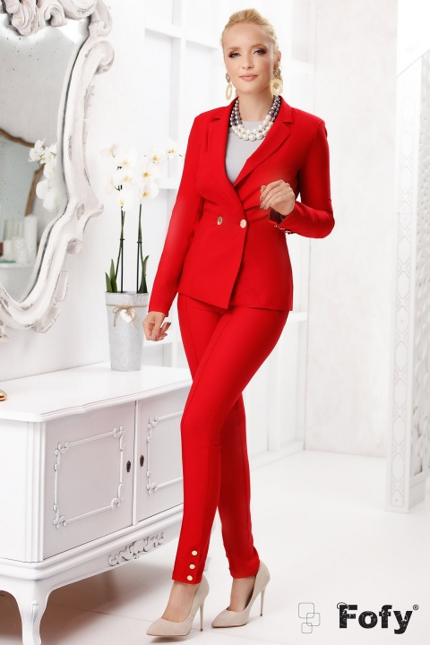 Pantaloni Fofy rosii