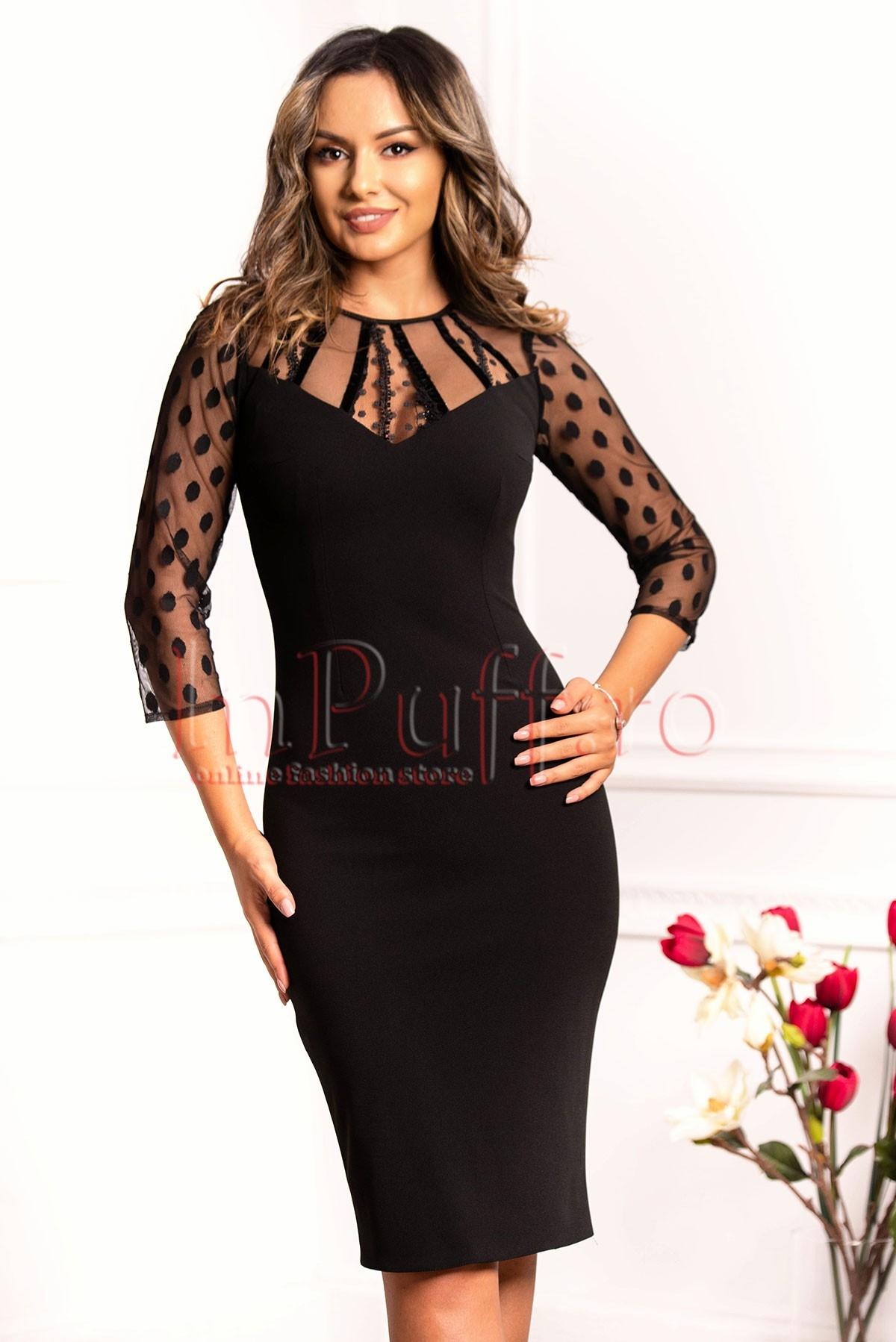 Rochie conica neagra