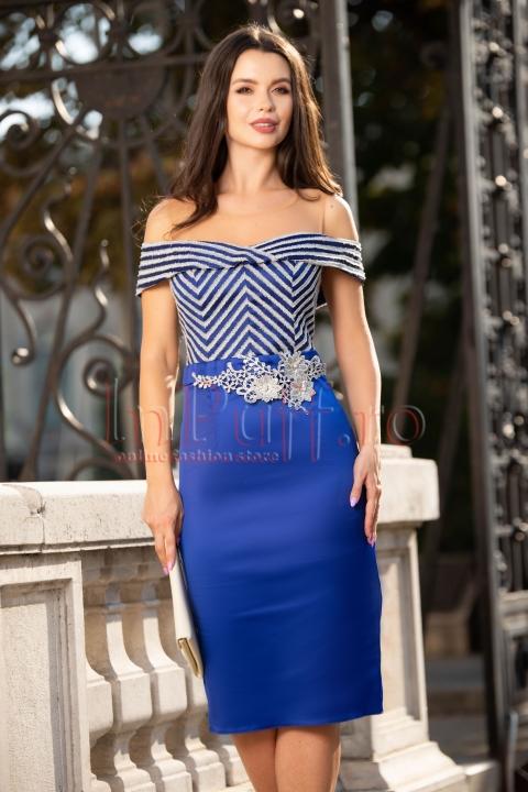 Rochie eleganta albastra