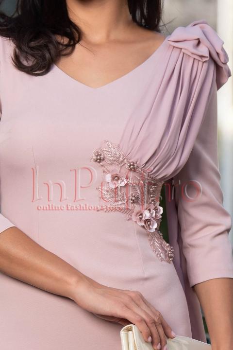 Rochie eleganta roz prafuit