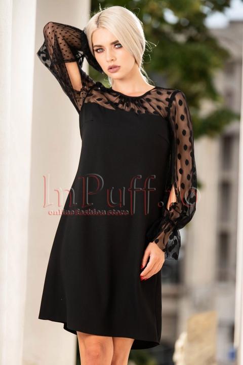 Rochie eleganta de seara neagra Moze