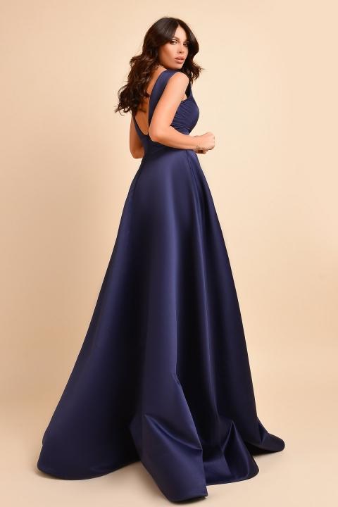 Rochie de seara lunga bleumarin Atmosphere