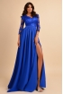Rochie eleganta lunga Atmosphere cu dantela albastra