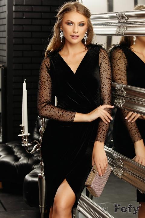 Rochie eleganta din catifea Fofy