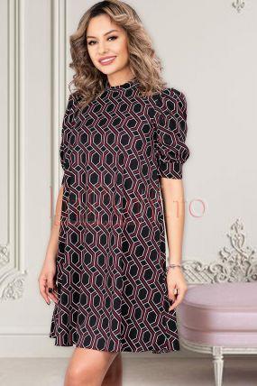 Rochie de zi cu imprimeu geometric