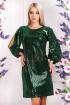 Rochie de ocazie verde cu paiete Moze