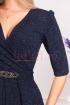 Rochie de seara bleumarin cu sclipici Moze