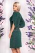 Rochie de seara verde cu sclipici Moze