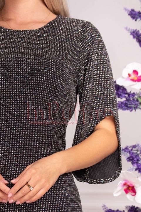 Rochie de seara neagra cu sclipici Moze