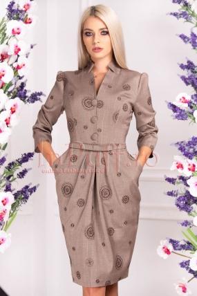 Rochie de zi eleganta cu imprimeu