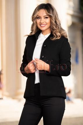 Jacheta dama din stofa neagra Moze