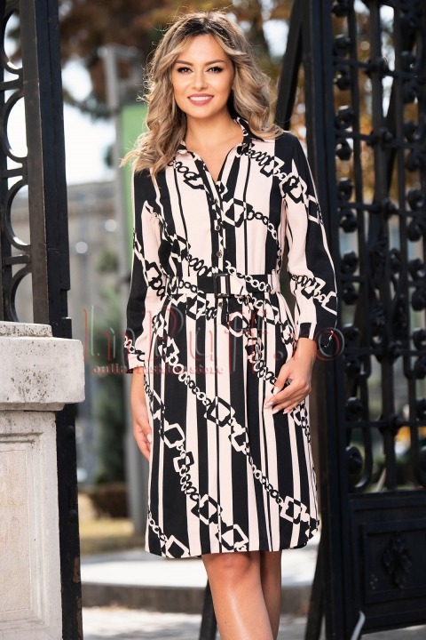 Rochie de zi cu imprimeu