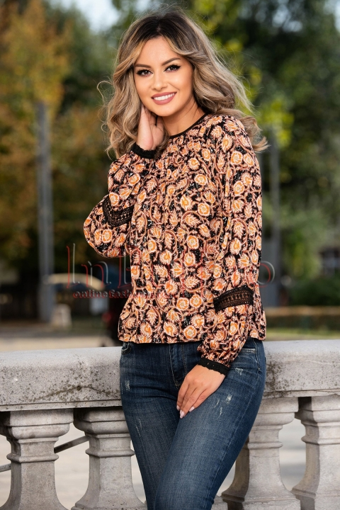 Bluza Moze cu imprimeu floral