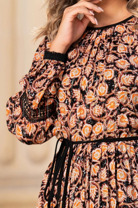Rochie de zi Moze creata cu imprimeu floral