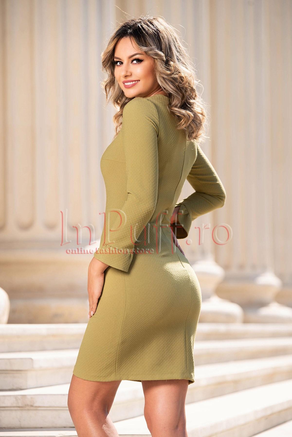 Rochie de zi cu maneca lunga Moze
