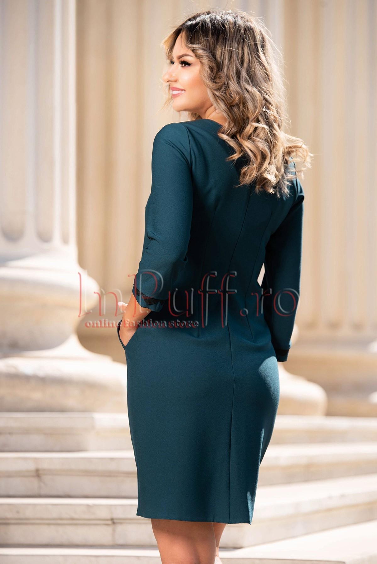 Rochie de zi cu buzunare laterale